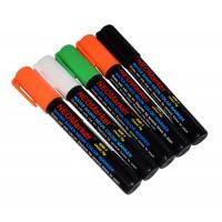 "1/4"" Spooky Ooky Chisel Tip Waterproof Marker Pens - 5 Pc Set"