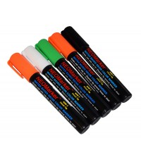 "1/4"" Spooky Ooky Chisel Tip Waterproof Marker Pens - 5 Pc Set"