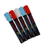 "1/4"" Lady Liberty Chisel Tip Waterproof Marker Pens - 5 pc Set"