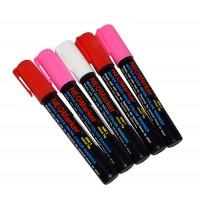 "1/4"" Happy Hearts Chisel Tip Waterproof Marker Pens - 5 Pc Set"
