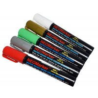 "1/4"" Jingle Bells Chisel Tip Waterproof Marker Pens - 5 Pc Set"