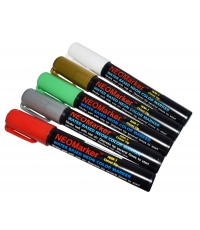 "1/4"" Jingle Bells Chisel Tip Waterproof Marker Pens - 5 Pc Set"