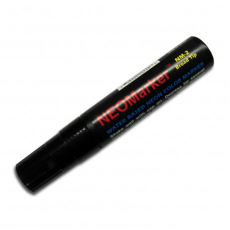 "1/2"" Wide Tip Black Waterproof Sign & Art Marker Pen"