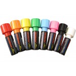 "1-1/4"" Extra Bold Waterproof Marker Pens - Full 8 Pc Set"