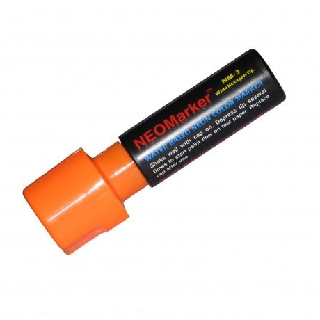 """1-1/4"""" Extra Bold Waterproof Marker Pen - Orange"""