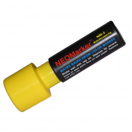 "1-1/4"" Extra Bold Waterproof Marker Pen - Yellow"