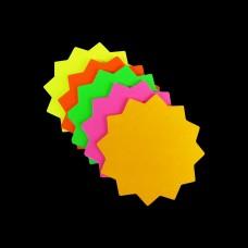 """2"""" x 2"""" Round Neon Star Card 50pk"""