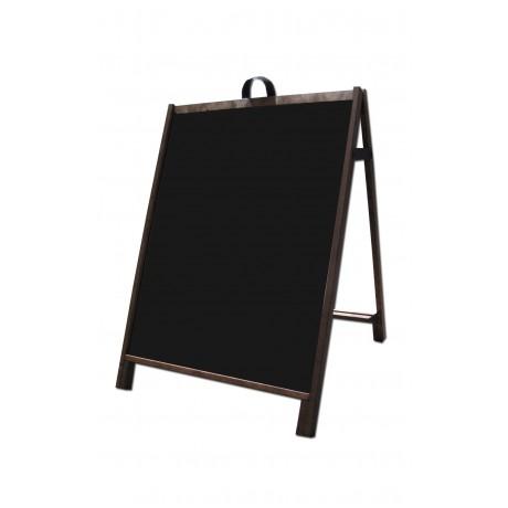 """36"""" Hardwood A-Frame - Acrylic Black Panels"""