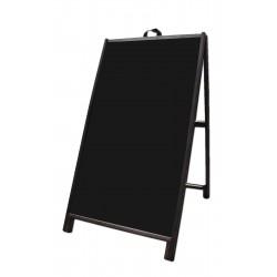 """48"""" Hardwood A-Frame - Acrylic Black Panels"""