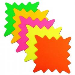 "5"" x 5"" Square Neon Star Card 40pk"