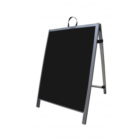 "36"" Aluminum A-frame - Acrylic Black Panels"