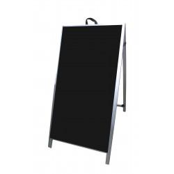 "48"" Aluminum A-frame - Acrylic Black Panels"