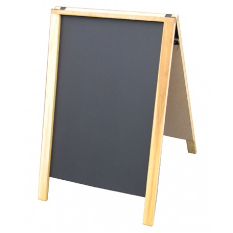 "36"" Economy Wood A-Frame Chalkboard - Natural Stain"