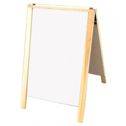 "28"" Economy Wood A-Frame Dry Erase - Natural Stain"