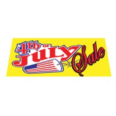 July 4th Sale Yellow Vinyl Windshield Advertising Banner