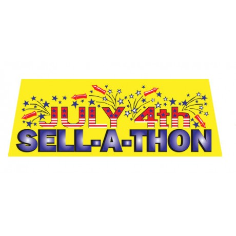 July 4th Sell-A-Thon Vinyl Windshield Advertising Banner