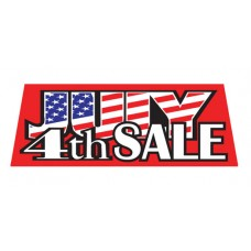 July 4th Sale Red Vinyl Windshield Advertising Banner