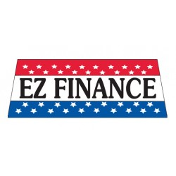 EZ Finance Patriotic Vinyl Windshield Banner