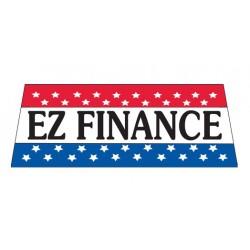 EZ Finance Patriotic Vinyl Windshield Banner