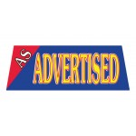 As Advertisted Vinyl Windshield Banner