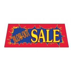 Blow-Out Sale Red Burst Vinyl Windshield Banner