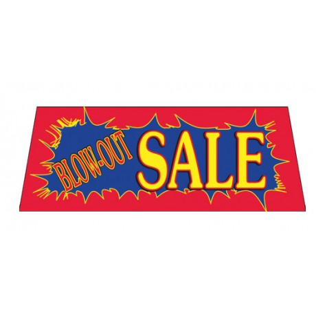 Blow-Out Sale Red Burst Vinyl Windshield Banner