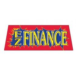 EZ Finance Red Burst Vinyl Windshield Banner