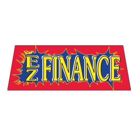 EZ Finance Red Burst Vinyl Windshield Banner