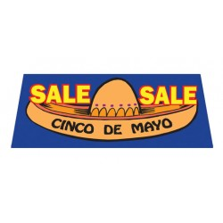 Cinco De Mayo Vinyl Windshield Banner