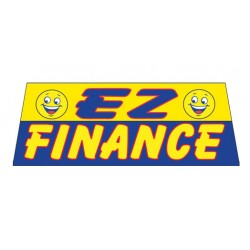 EZ Finance In Yellow Vinyl Windshield Banner