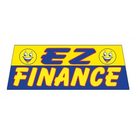 EZ Finance In Yellow Vinyl Windshield Banner