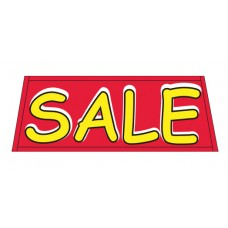 Sale Red Vinyl Windshield Banner