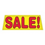 Sale Yellow Vinyl Windshield Banner