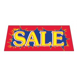 Sale Red Burst Vinyl Windshield Banner