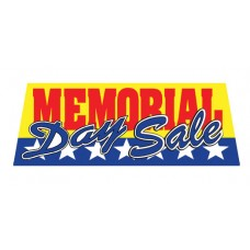 Memorial Day Sale Vinyl Windshield Advertising Banner