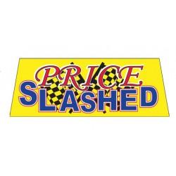 PRICE SLASHED Car Windshield Banner