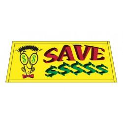 SAVE $ Car Windshield Banner
