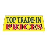 TOP TRADE-IN PRICES Car Windshield Banner