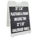 "25""x 36"" Poly A-Frame with Chalkboard Inserts"