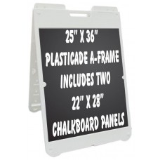 """25""""x 36"""" Poly A-Frame with Chalkboard Inserts"""