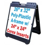 """26""""x 32"""" Poly A-Frame With Coroplast Inserts"""