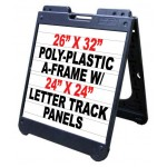 """26""""x 32"""" Poly A-Frame With Letter Track Inserts"""
