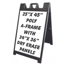 24/7 Black Outdoor A-Frame By Signicade - Dry Erase