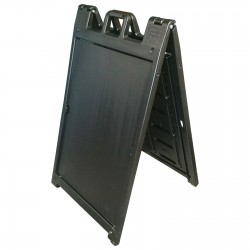 "25"" x 45"" Black Poly Plastic A-Frame - Frame Only"