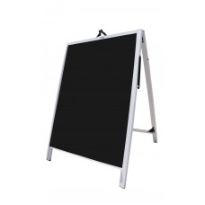 "36"" PVC A-Frame Sign - Acrylic Black Panels"