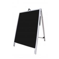 "36"" PVC A-Frame Sign - Acrylic Black Panels"