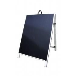 """36"""" PVC A-Frame Sign - Chalkboard Black Panels"""