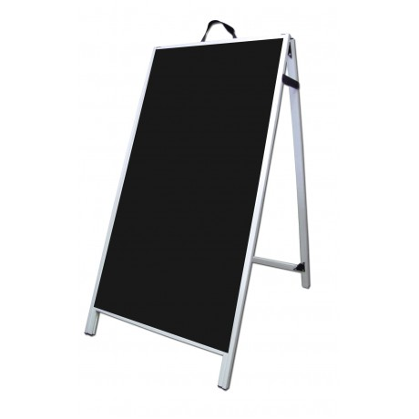 "48"" PVC A-Frame Sign - Acrylic Black Panels"
