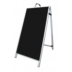 "48"" PVC A-Frame Sign - Corex Black Panels"