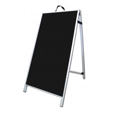 """48"""" PVC A-Frame Sign - Corex Black Panels"""